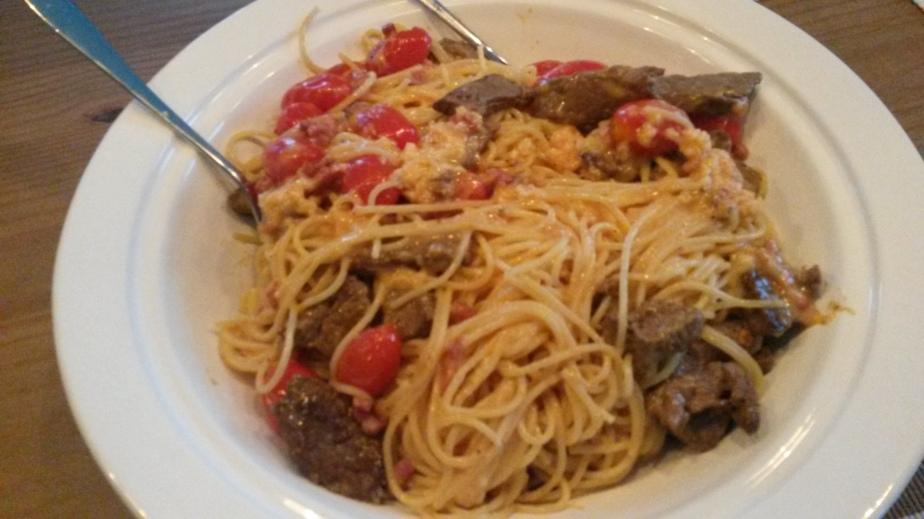 Spaghetti Carbonara deluxe